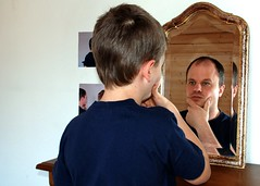 The Time Mirror (Steffen Jakob) Tags: family reflection me mirror spiegel father gimp son lukas steffen timemachine cwd cwdweek13 cwd132 steffenj permpublic