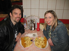 Matt and Caroline eat Fish and Chips!
