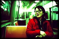 Lily Subway (candersonclick) Tags: trip ny newyork film brooklyn 35mm subway vegan crossprocessed nikon fuji lily velvia xp f2 filmisnotdead nikonfm2n