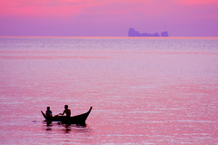 drifting into a dream.. (areyarey) Tags: ocean travel pink sunset sea summer vacation sky sun sunlight seascape reflection tourism beach nature water beautiful beauty sunshine weather sunrise landscape thailand island evening coast boat bravo scenery heaven paradise waves peace purple searchthebest outdoor horizon dream dramatic peaceful wave calm tropical romantic tropic environment coastline pearl inspirational spiritual relaxation inspire untouched tranquil silouhette seawater magicdonkey areyarey superaplus aplusphoto irresistiblebeauty goldenphotographer nitenite teachmehowtodreamlikethis romanticthatswhatyouare dippingisfun itsprivilegetobeonthesamepagewithyou pinkoutstandingshots welltinmanhopeyourestiffsomeoilwillfixthato