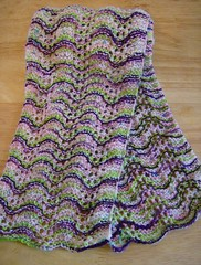 Lime n Violet Feather and Fan scarf