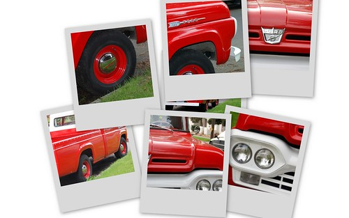 Red Truck Collage