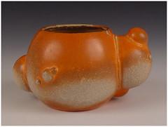 Skyler Swann: Orange You Glad? (ajdonald17) Tags: show art cup ceramic ceramics pot pots cups clay skyler swann tumbler charliecummings cuptheintimateobjectii