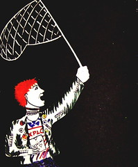we're not gonna take it (sparkleice) Tags: white black net leather butterfly toy rebel book punk arm fiat drawing profile jacket rocknroll colouring hold 126 teenage hair red 4skins sparkleice