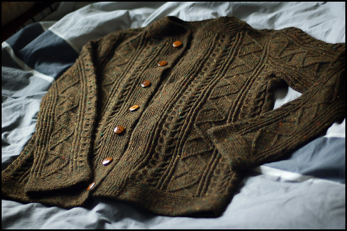 Saddle Shoulder Aran Cardigan 5