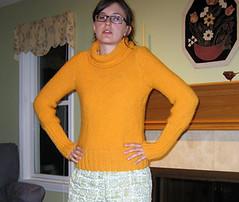 Orange Phildar Sweater