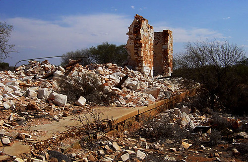 Ruins of the old Hospital at Cue in Western Australia.