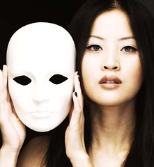 Mask (sam_samantha) Tags: portrait woman me face photoshop asian eyes bravo mask manipulation theface themoulinrouge magicdonkey artlibre flickrdiamond bratanesque
