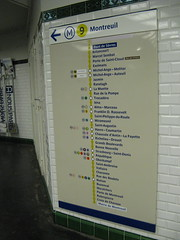 Paris Metro Line Signage (brunoboris) Tags: paris france public underground subway tile publictransit metro line transit transfer transportencommun montreuil wayfinding stations linemap pontdesevres boulougne line9 mairiedemontreuil metroline9
