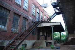 set 18 082 (jreidfive) Tags: old bridge urban abandoned stairs virginia warehouse roanoke jungle