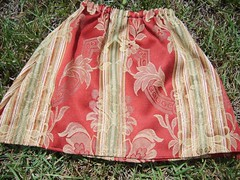 Mizan's Skirt 2- Repurposed Fabric