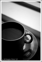 Morning Coffee (Khalid AlHaqqan) Tags: shadow cup coffee tea drink nescafe khalid kuwson alhaqqan