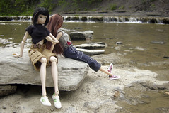 Waterfall or Fall in the Water (elfinity) Tags: miniatures doll diorama playscale taughannockwaterfall