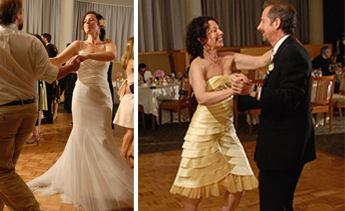 Sam dancing, Sam's parents dancing