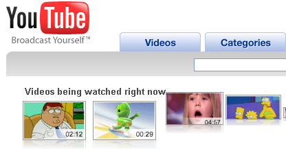 YouTube Watched right now
