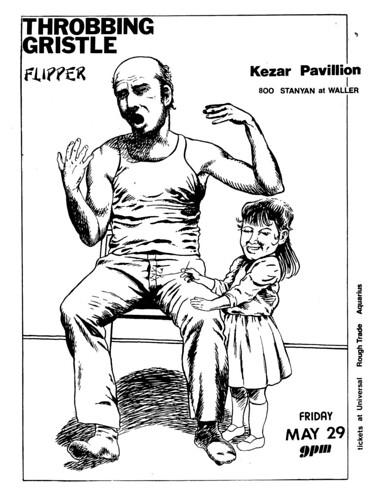 Throbbing Gristle and Flipper at Kezar in San Francisco