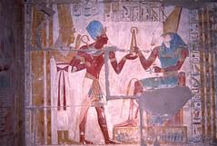 Seti I, Isis and Horus, Abydos, Egypt