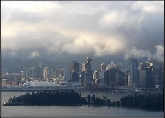 Pan Pacific Center (JuttaMK) Tags: vancouver clouds harbour explore stanleypark coal superbmasterpiece panpacifccenter