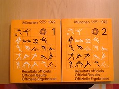 mnchen olympia munich olympics 1972 results book designed by otl aicher (scleroplex) Tags: leica orange munich mnchen logo spiral grid typography design colours graphic swiss system identity font olympia adrian olympics visual 1972 pictogram iyengar raster spirale digilux otl systeme univers frutiger piktogramme aicher scleroplex