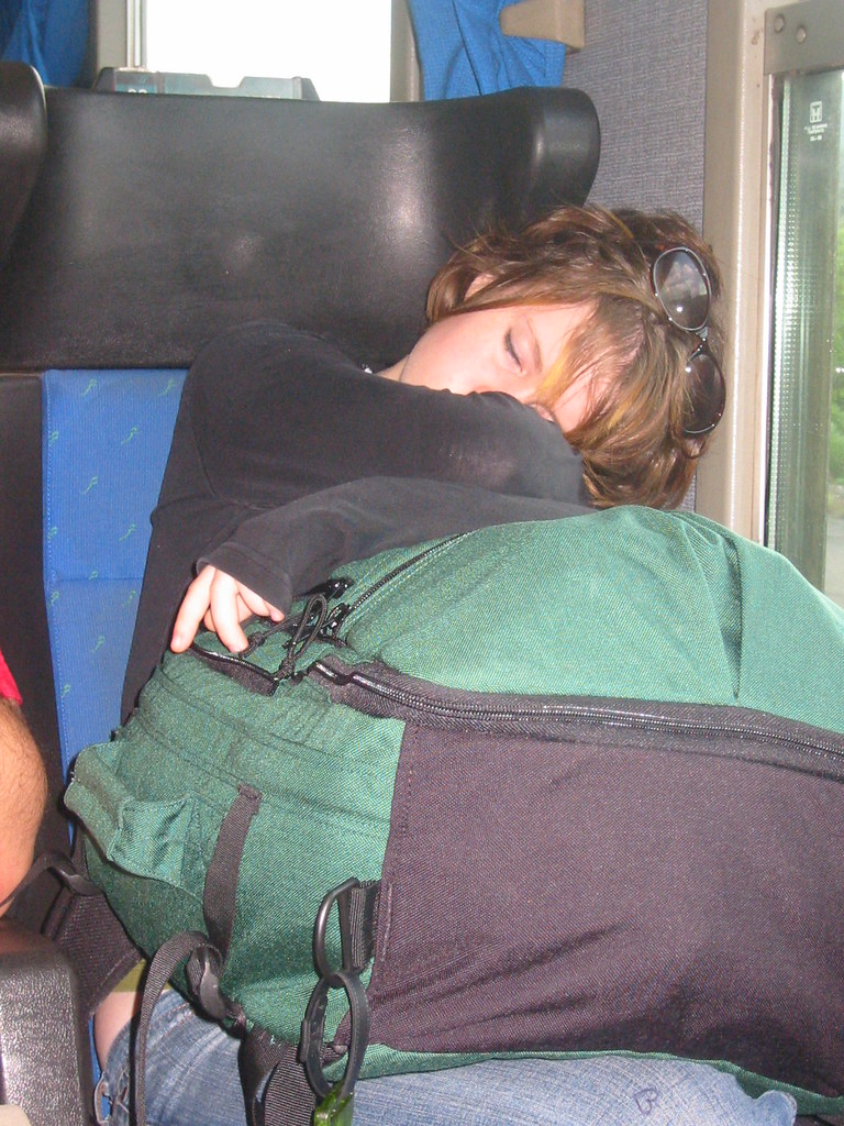 Sleeping on the train