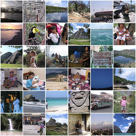 Nomadic travel mosaic: from USA to Peru, Mexico Guatemala Colombia Ecuador