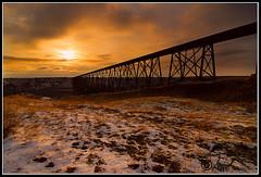 Lethbridge High Level Bridge Sunset (highlevelbridge_DSC8947.jpg) (Larsthrows) Tags: trestle sunset alberta lethbridge highlevelbridge abigfave larssteinke viaducttrain larsphotography larsphotographycom lawrencesteinke