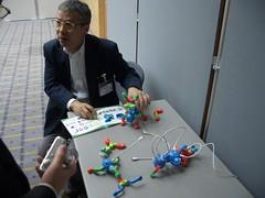 Prof. Ishii demonstrating Topobo
