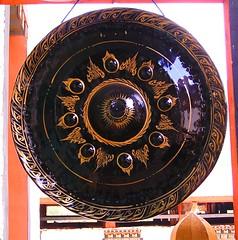 Gong in a dzong