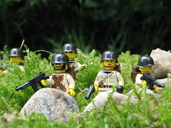 U.S. Army Fire Team (Dunechaser) Tags: usa america army us lego military wwii worldwarii ww2 minifig minifigs memorialday worldwar2 fireteam aolm brickarms foitsop