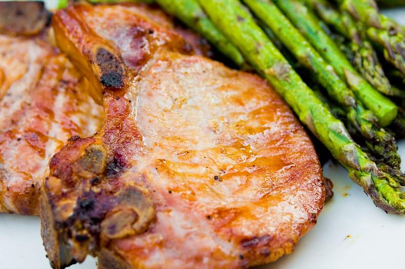 Bourbon-Brined Pork Chops