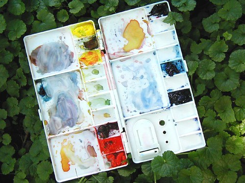 Just the primaries travel palette