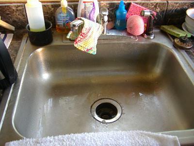 empty sink!