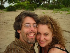 Melissa & Ed on Hanalei Bay Beach