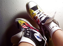 FUTABing after midnight in flaming HAWT Chucks! (lrayholly) Tags: flames converse hawt friday chucks chucktaylor aftermidnight futab feetuptakeabreak futabingaftermidnightinflaminghawtchucks