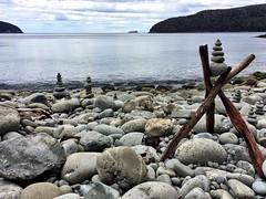 Rocky cove. Fortescue Bay. Tasmania.