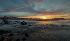 Brusand II - 2 (Tommy Quinn) Tags: sunrise seascape rocks river beach f22 canon colors beautiful