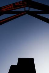 Monolith - Zollverein Coal Mine (jensflachmann) Tags: architectural architecture miningtower industrial industry monolith backlight batis2818 e zollverein coalmine mine essen germany worldheritagesite unesco blue