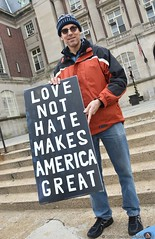 "Human Rights Day 2016 (9) - ""Love Not Hate Makes America Great"" (Thomas Altfather Good) Tags: tagfotograf newyorkcity nyc tagphotography thomasaltfathergood thomasgood shotoftheday humanrightsday2016 lovetrumpshate statenisland protestingracism bigotry trump"