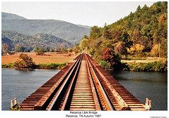 L&N Railroad Bridge Reliance, TN (Robert W. Thomson) Tags: railroad bridge train tennessee railway trains ln reliance hiwassee hookeye louisvillenashville hiwasseeriver overhillroute oldline copperhillline oldloop