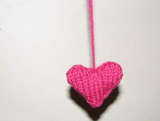 wool scrap heart