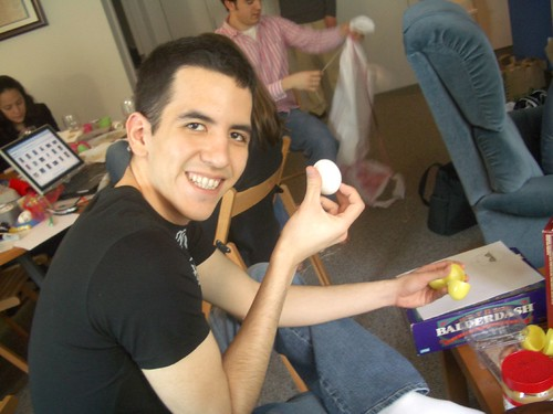 Hugo with his unaltered eggg