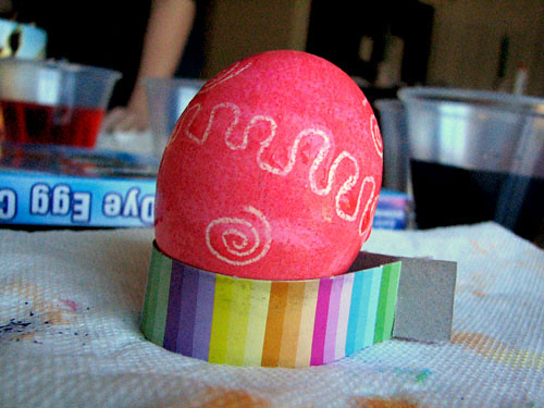 Crayon-Decorated Easter Egg: Step 1