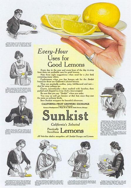 Sunkist Lemons, 1916