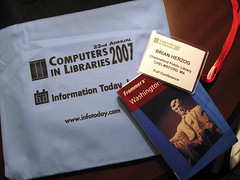 computers in libraries 2007 badge