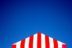1013360 Nice day for chicken (A Different Perspective) Tags: newzealand waihi blue kfc red roof sky stripe wall white