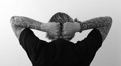 Habaneros (habaneros) Tags: portrait bw man me tattoo self ego marco bnw habaneros sonyalpha tattooeus