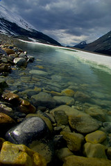 Out of a Dream (Ar'alani) Tags: park travel mountain snow canada ice nature river landscape rocks jasper glacier national banff crooked icefield hoyamoose