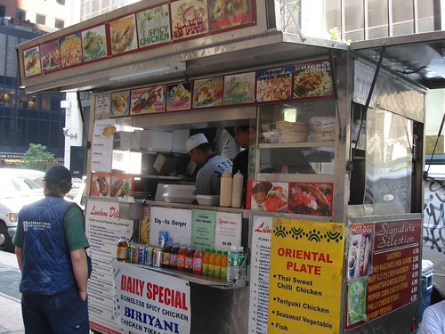 Biriyani Cart on 46th & 6th, Midtown NYC