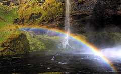 Bifrst Bridge (Karnevil) Tags: nature water iceland rainbow waterfalls seljalandsfoss specnature