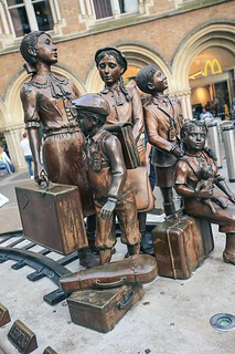 The Kindertransport statue